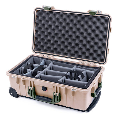 Pelican 1510 Case, Desert Tan with OD Green Handles & Latches - Pelican Color Case