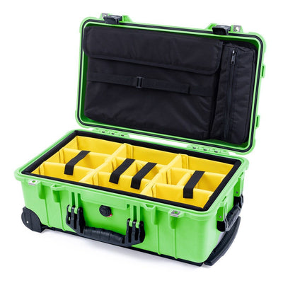 Pelican 1510 Case, Lime Green with Black Handles & Latches - Pelican Color Case
