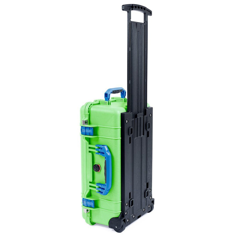 Pelican 1510 Case, Lime Green with Blue Handles & Latches - Pelican Color Case