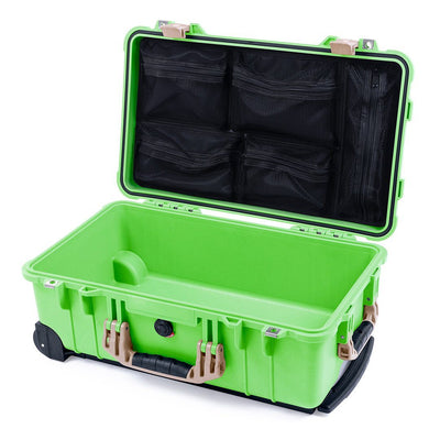 Pelican 1510 Case, Lime Green with Desert Tan Handles & Latches - Pelican Color Case
