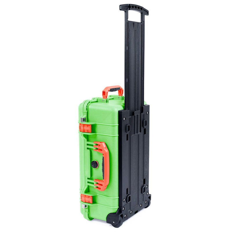 Pelican 1510 Case, Lime Green with Orange Handles & Latches - Pelican Color Case