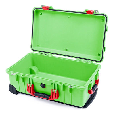 Pelican 1510 Case, Lime Green with Red Handles & Latches - Pelican Color Case
