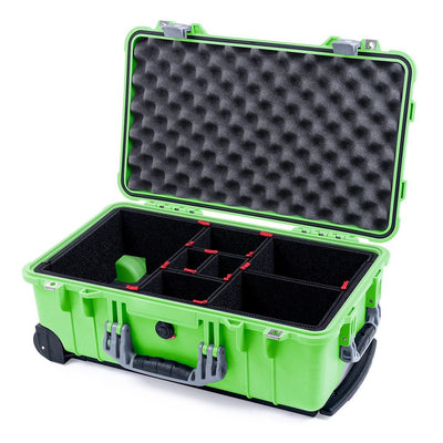 Pelican 1510 Case, Lime Green with Silver Handles & Latches - Pelican Color Case