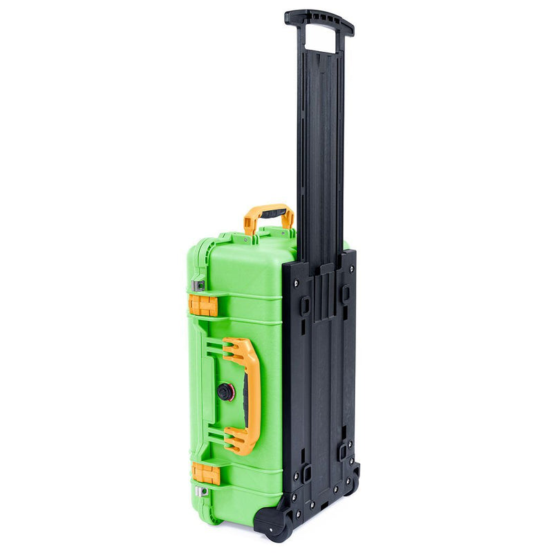 Pelican 1510 Case, Lime Green with Yellow Handles & Latches - Pelican Color Case