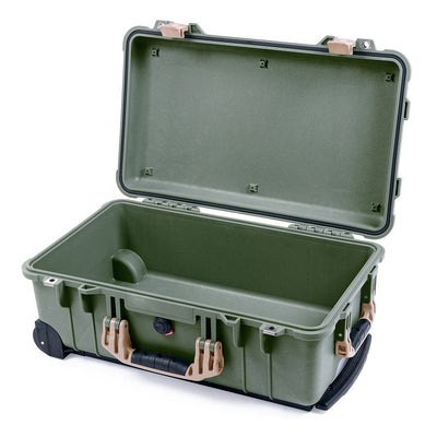 Pelican 1510 Case, OD Green with Desert Tan Handles & Latches - Pelican Color Case