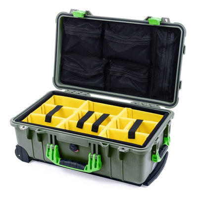 Pelican 1510 Case, OD Green with Lime Green Handles & Latches - Pelican Color Case