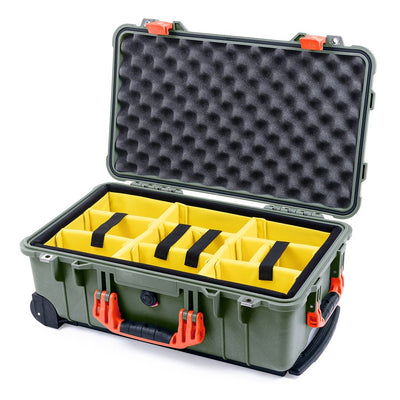 Pelican 1510 Case, OD Green with Orange Handles & Latches - Pelican Color Case