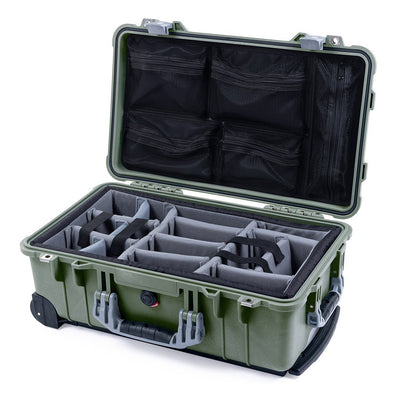 Pelican 1510 Case, OD Green with Silver Handles & Latches - Pelican Color Case