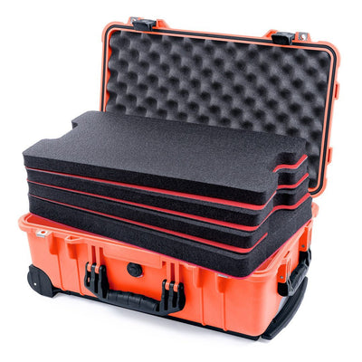 Pelican 1510 Case, Orange with Black Handles & Latches - Pelican Color Case