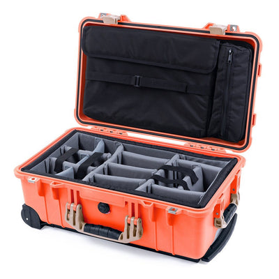Pelican 1510 Case, Orange with Desert Tan Handles & Latches - Pelican Color Case