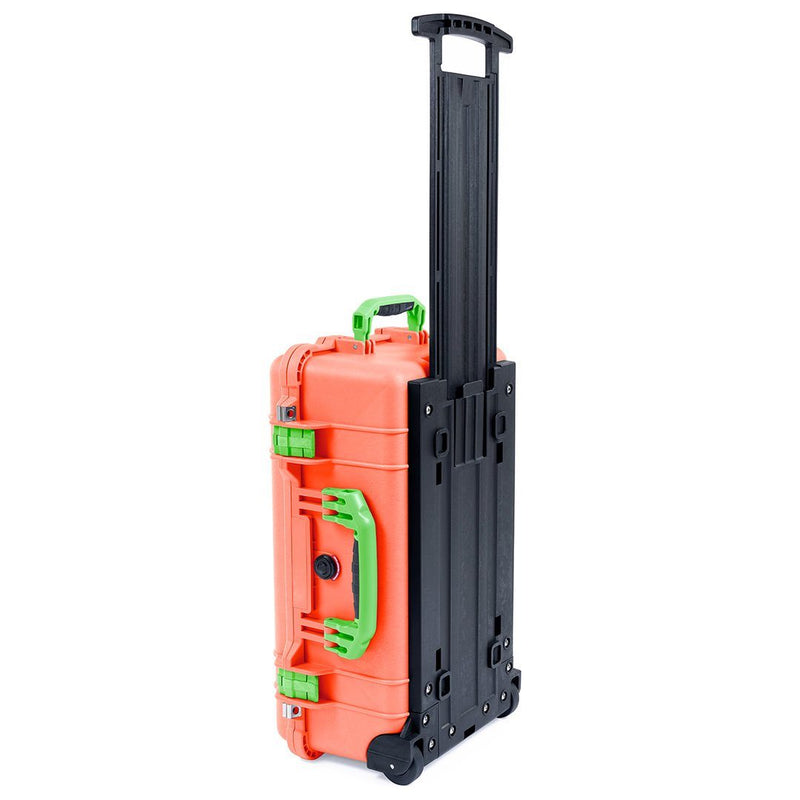 Pelican 1510 Case, Orange with Lime Green Handles & Latches - Pelican Color Case