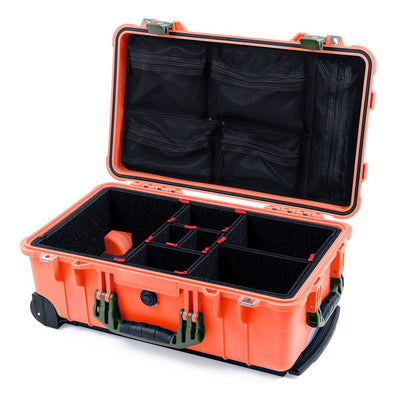 Pelican 1510 Case, Orange with OD Green Handles & Latches - Pelican Color Case