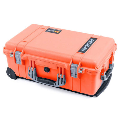 Pelican 1510 Case, Orange with Silver Handles & Latches - Pelican Color Case