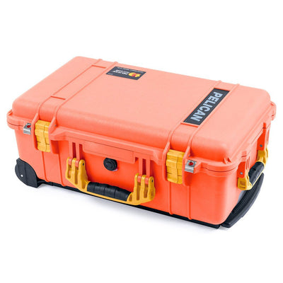Pelican 1510 Case, Orange with Yellow Handles & Latches - Pelican Color Case