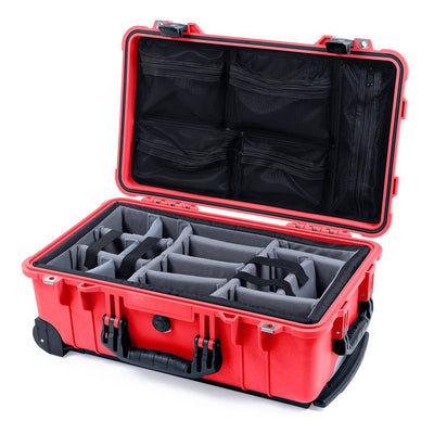 Pelican 1510 Case, Red with Black Handles & Latches - Pelican Color Case