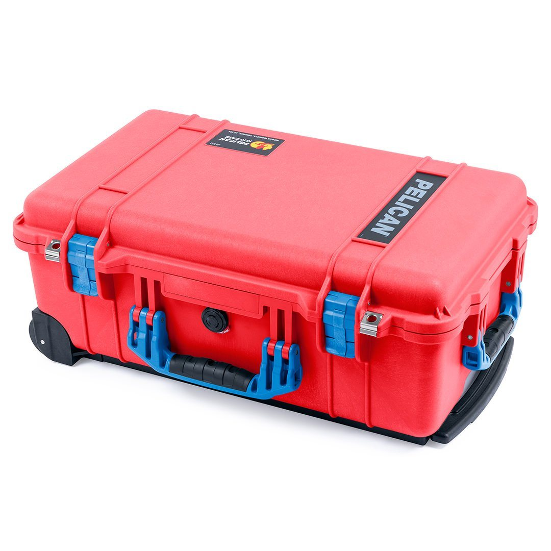 Pelican 1510 Case, Red with Blue Handles & Latches - Pelican Color Case