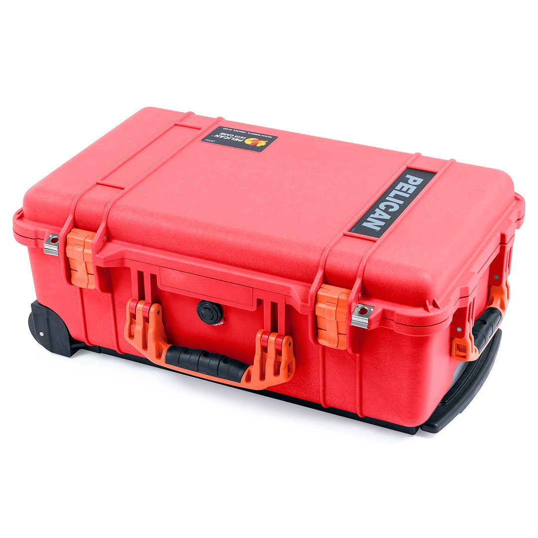 Pelican 1510 Case, Red with Orange Handles & Latches - Pelican Color Case