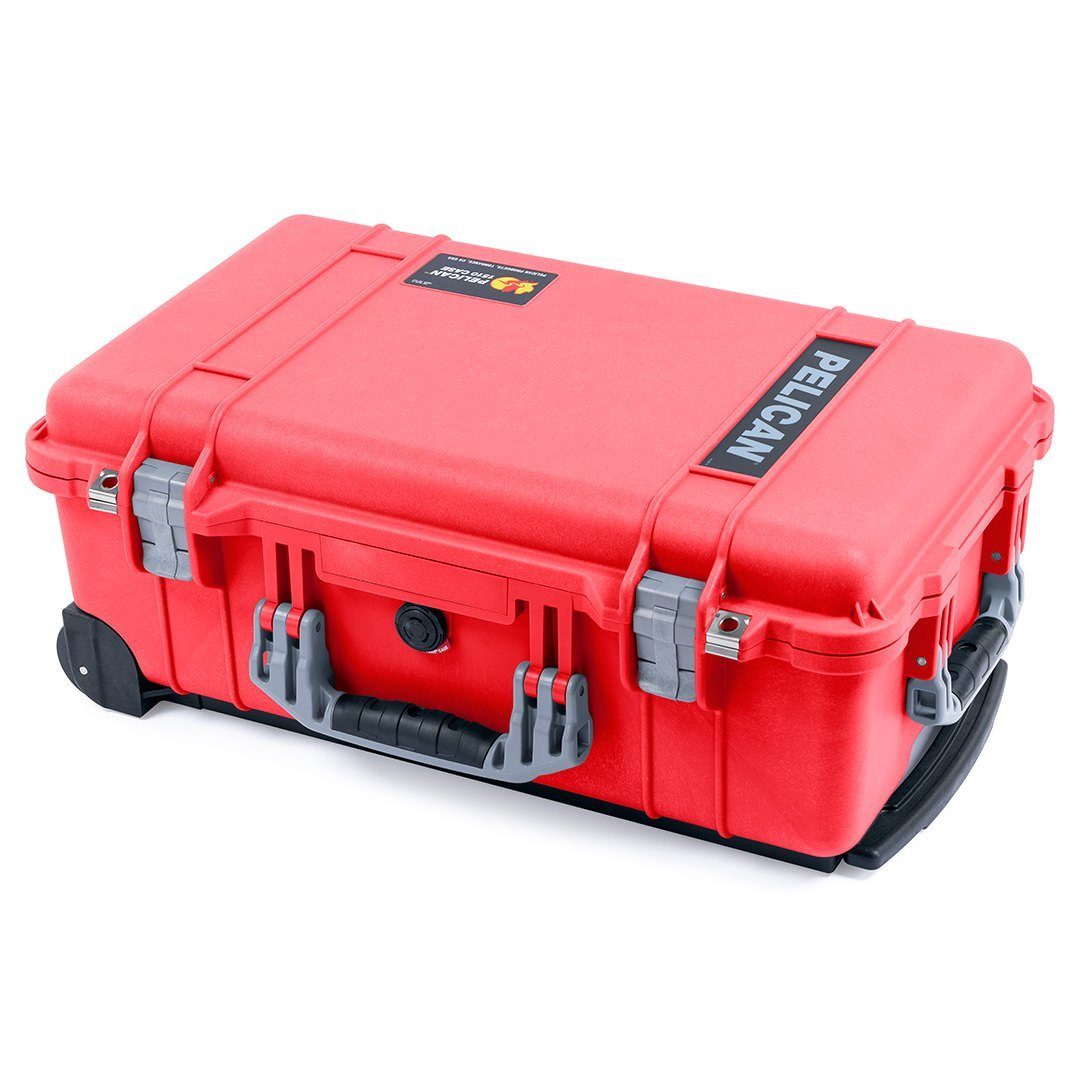 Pelican 1510 Case, Red with Silver Handles & Latches