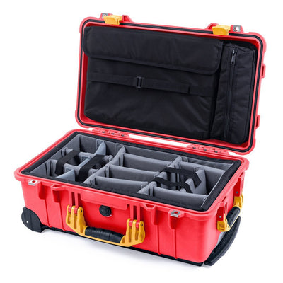 Pelican 1510 Case, Red with Yellow Handles & Latches - Pelican Color Case