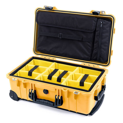 Pelican 1510 Case, Yellow with Black Handles & Latches - Pelican Color Case
