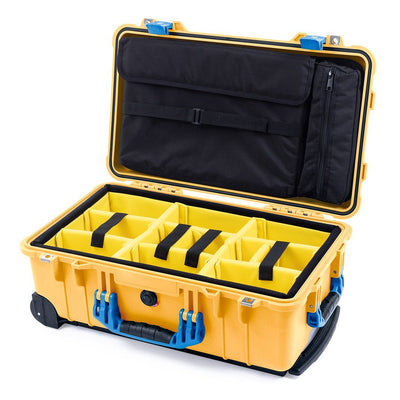 Pelican 1510 Case, Yellow with Blue Handles & Latches - Pelican Color Case