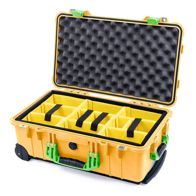 Pelican 1510 Case, Yellow with Lime Green Handles & Latches - Pelican Color Case