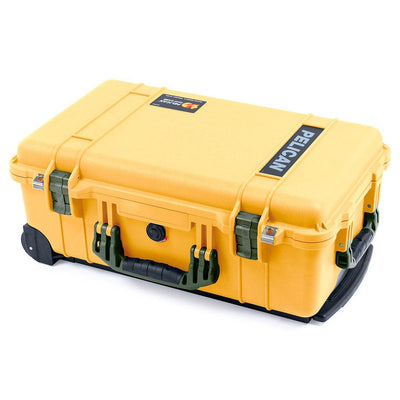 Pelican 1510 Case, Yellow with OD Green Handles & Latches - Pelican Color Case