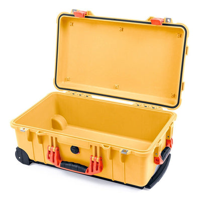 Pelican 1510 Case, Yellow with Orange Handles & Latches - Pelican Color Case