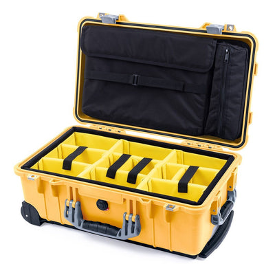 Pelican 1510 Case, Yellow with Silver Handles & Latches - Pelican Color Case
