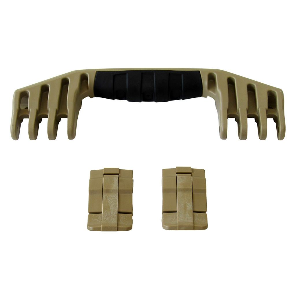 Desert Tan Replacement Handle & Latches for Pelican 1520 or 1550, One Desert Tan Handle, Two Desert Tan Latches - Pelican Color Case