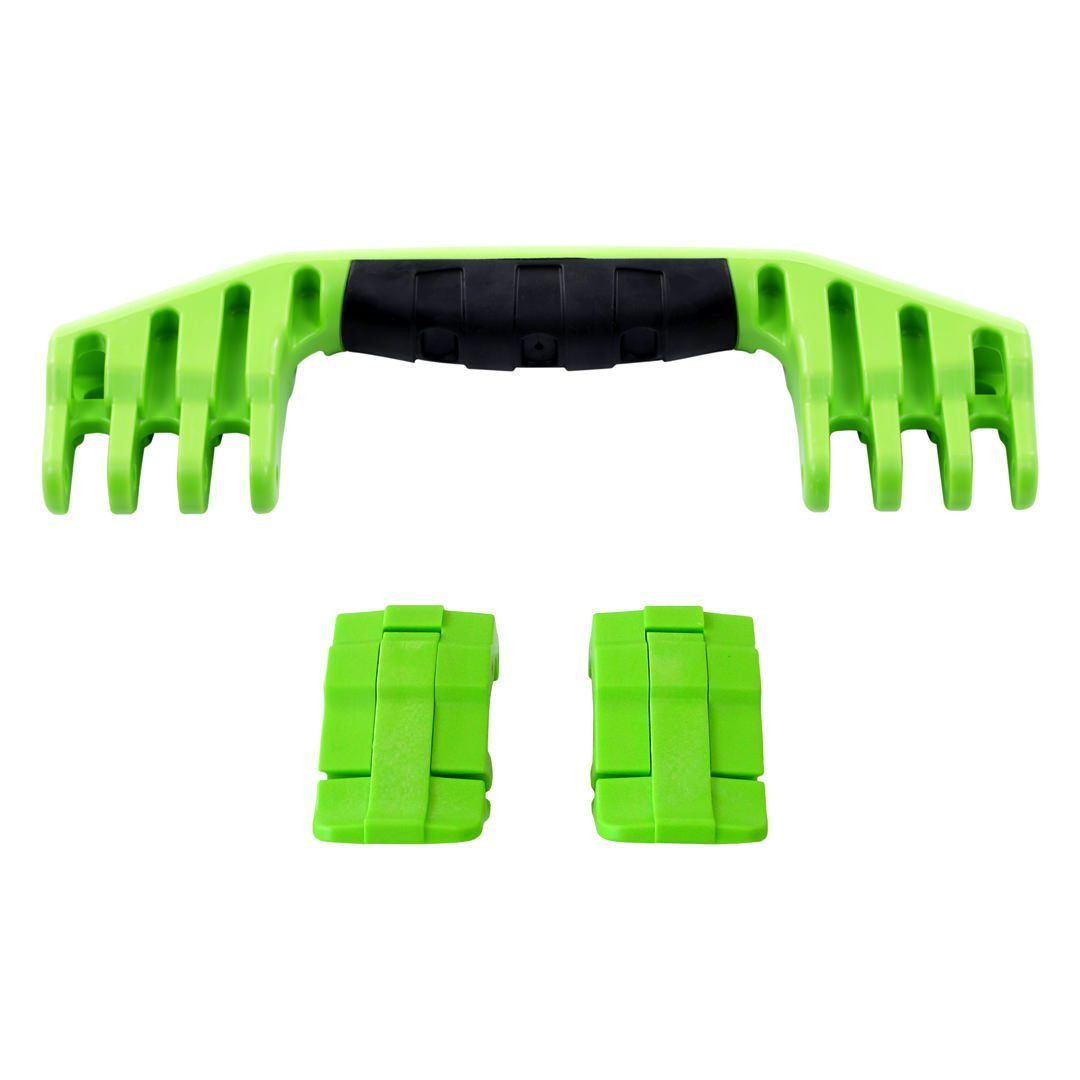 Lime Green Replacement Handle & Latches for Pelican 1520 or 1550, One Lime Green Handle, Two Lime Green Latches - Pelican Color Case