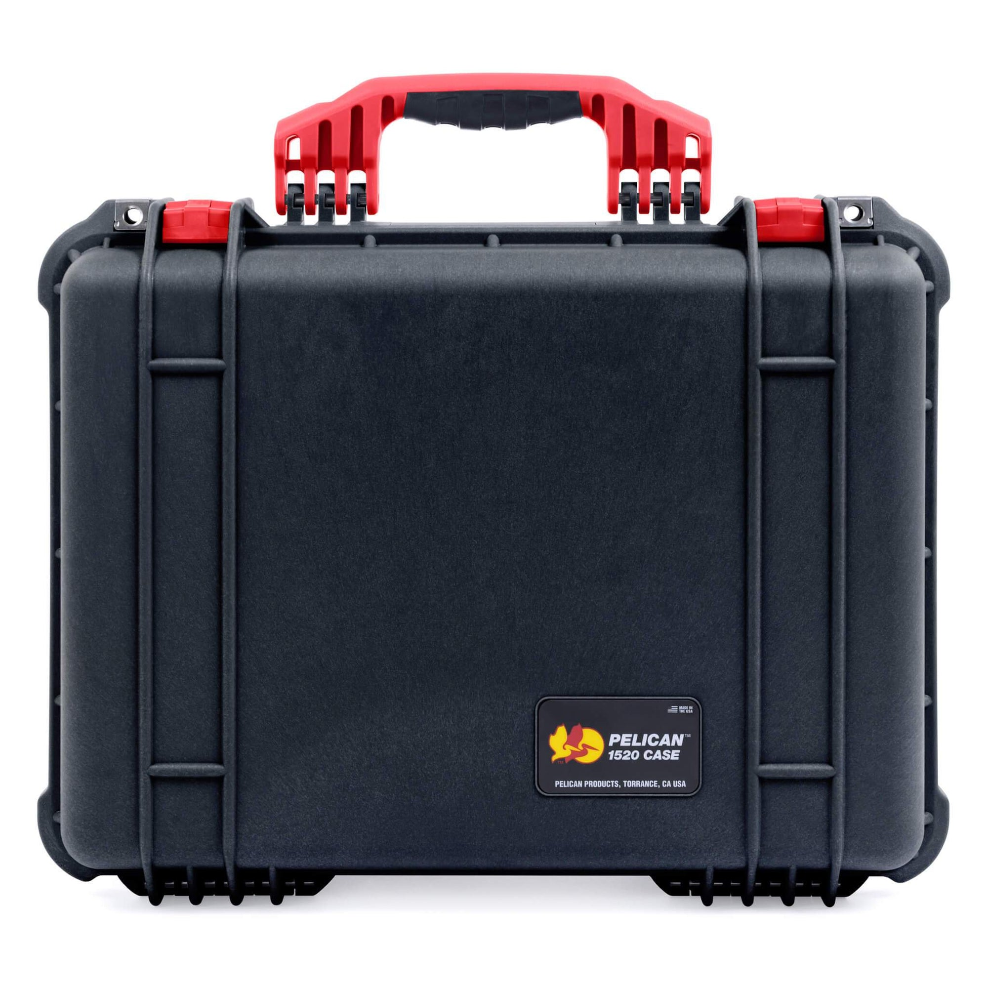 Pelican 1520 Case, Black with Red Handle & Latches