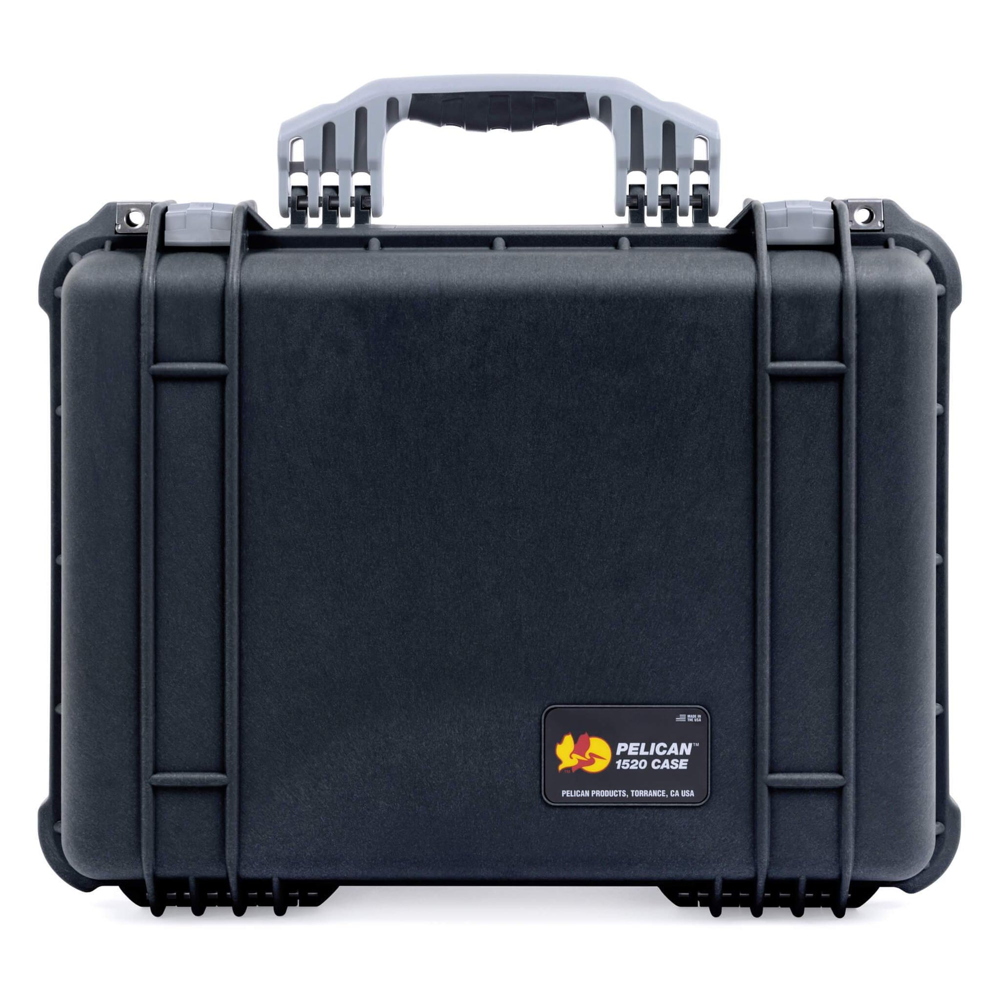 Pelican 1520 Case, Black with Silver Handle & Latches