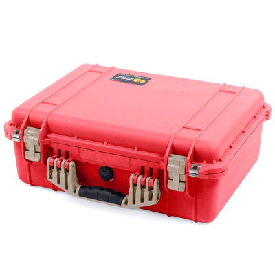 Pelican 1520 Case, Red with Desert Tan Handle & Latches