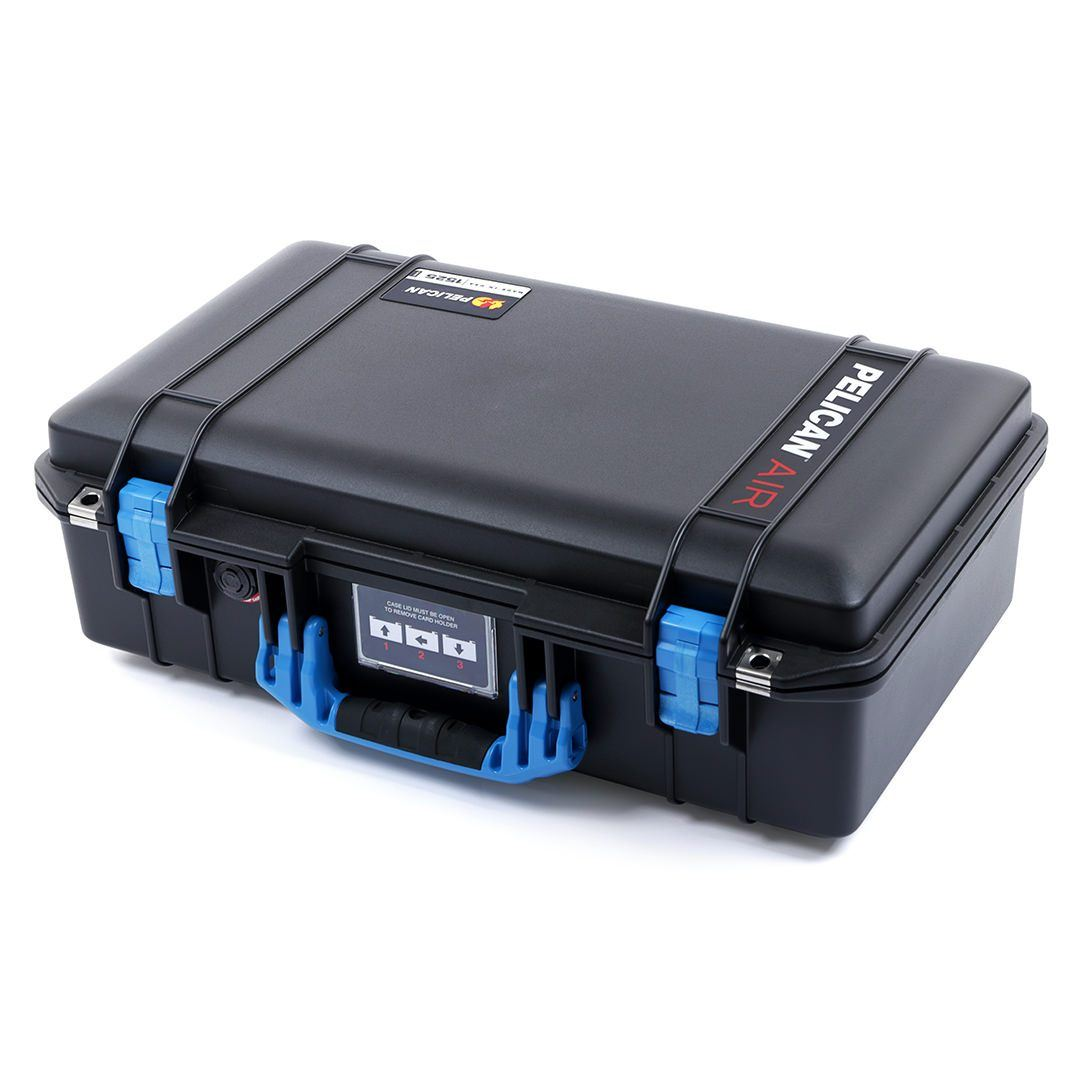 Pelican 1525 Air Case, Black with Blue Handle & Latches - Pelican Color Case