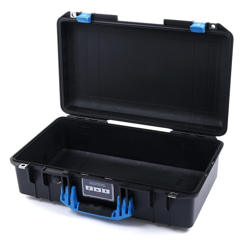 Pelican 1525 Air Colors Series, Black Air Case with Blue Handles & Latches, Customizable Accessory Bundles - Pelican Color Case