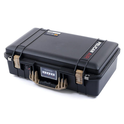 Pelican 1525 Air Case, Black with Desert Tan Handle & Latches - Pelican Color Case