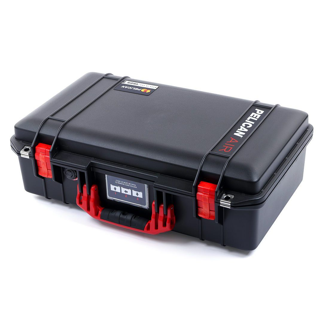 Pelican 1525 Air Colors Series, Black Air Case with Red Handles & Latches, Customizable Accessory Bundles - Pelican Color Case