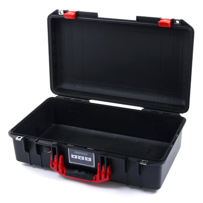 Pelican 1525 Air Case, Black with Red Handle & Latches - Pelican Color Case