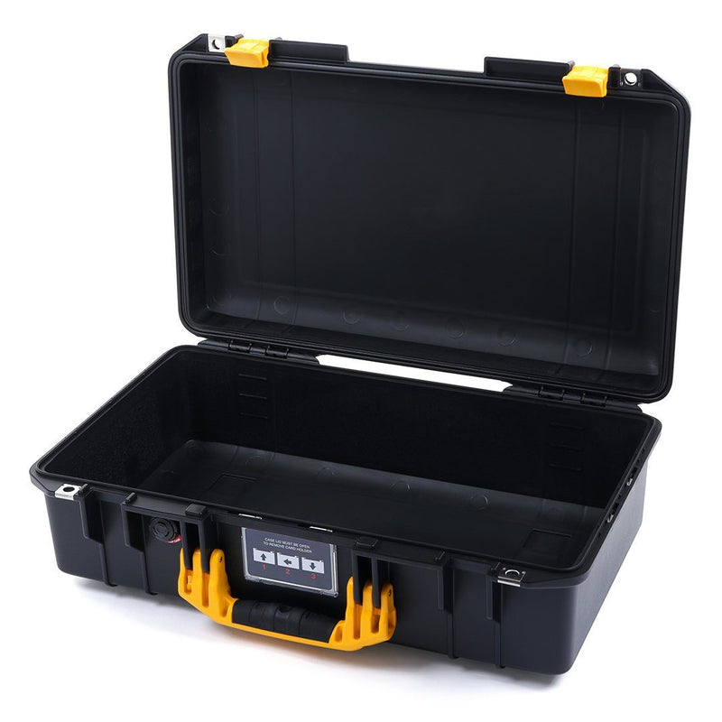 Pelican 1525 Air Colors Series, Black Air Case with Yellow Handles & Latches, Customizable Accessory Bundles - Pelican Color Case