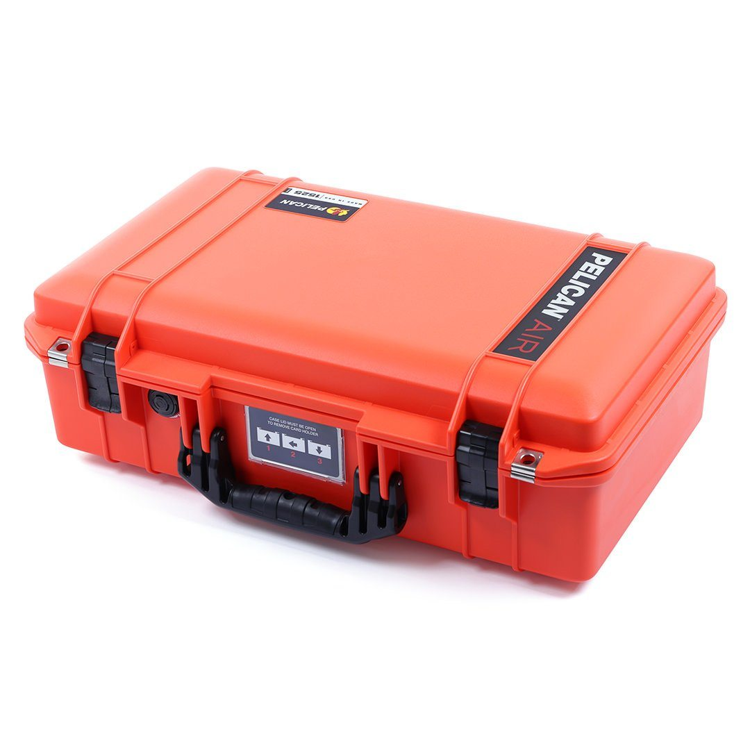 Pelican 1525 Air Case, Orange with Black Handle & Latches - Pelican Color Case