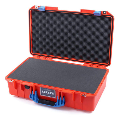 Pelican 1525 Air Case, Orange with Blue Handle & Latches - Pelican Color Case