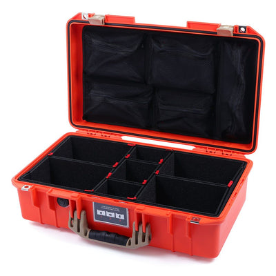 Pelican 1525 Air Case, Orange with Desert Tan Handle & Latches - Pelican Color Case