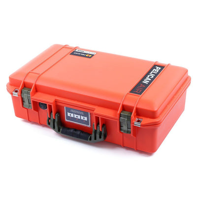 Pelican 1525 Air Case, Orange with OD Green Handle & Latches - Pelican Color Case