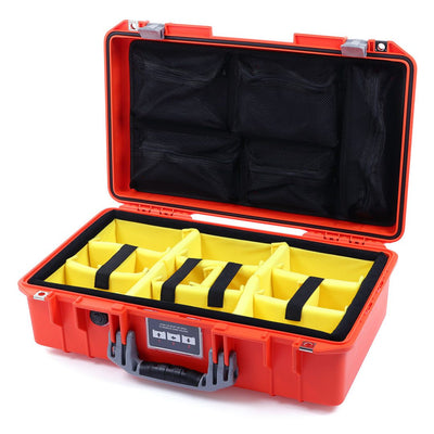 Pelican 1525 Air Case, Orange with Silver Handle & Latches - Pelican Color Case