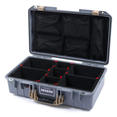Pelican 1525 Air Case, Silver with Desert Tan Handle & Latches - Pelican Color Case