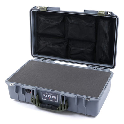 Pelican 1525 Air Case, Silver with OD Green Handle & Latches - Pelican Color Case