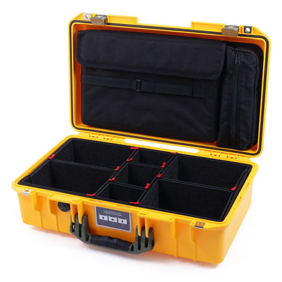 Pelican 1525 Air Case, Yellow with OD Green Handle & Latches - Pelican Color Case