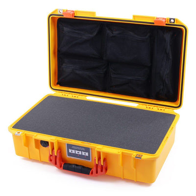 Pelican 1525 Air Case, Yellow with Orange Handle & Latches - Pelican Color Case