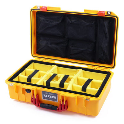 Pelican 1525 Air Case, Yellow with Red Handle & Latches - Pelican Color Case